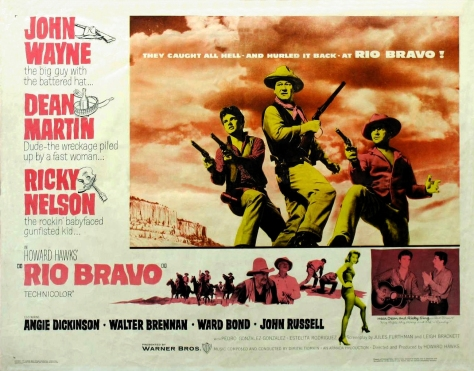 Theatrical poster for Rio Bravo (1959)