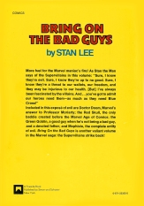 Bring On The Bad Guys back cover