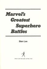 Marvel's Greatest Superhero Battles title page