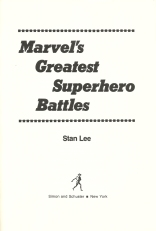 Marvel's Greatest Superhero Battles title page