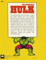 The Incredible Hulk, back cover