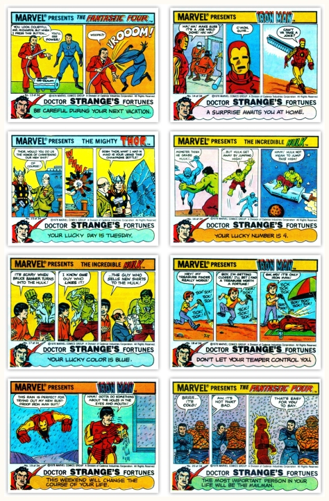 Marvel bubble gum comics 1978