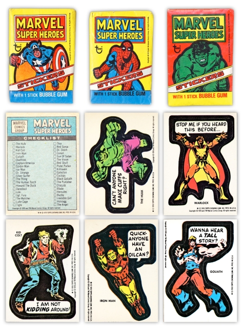 Marvel/Topps stickers 1976
