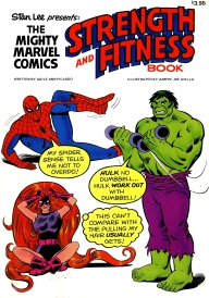 The Mighty Marvel Strength and Fitness book, front cover