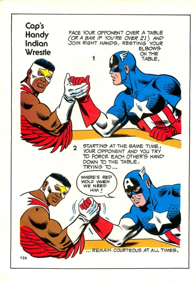 The Mighty Marvel Strength and Fitness book page 126