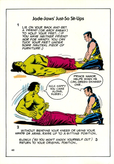 The Mighty Marvel Strength and Fitness book page 62