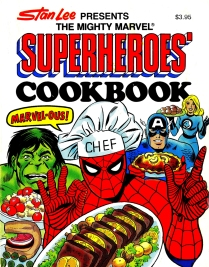 The Mighty Marvel Superheroes' Cookbook, front cover