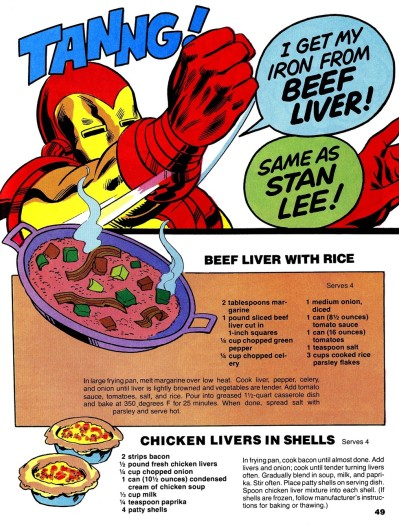 The Mighty Marvel Superheroes' Cookbook page 49