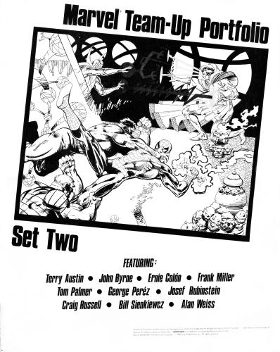 Marvel Team-Up portfolio set two cover