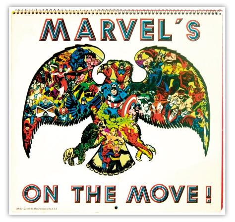 Marvel Bicentennial calendar 1976 Back cover