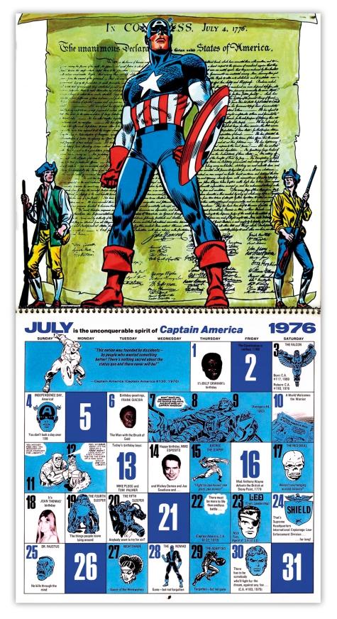 Marvel Bicentennial calendar 1976 July