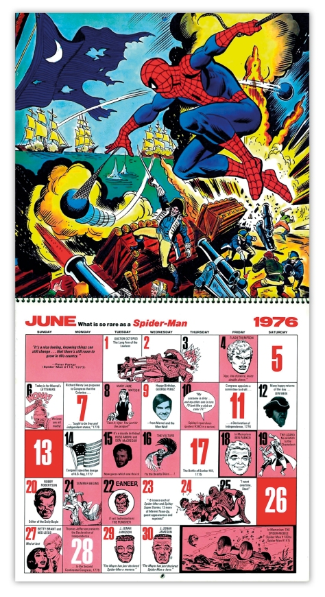 Marvel Bicentennial calendar 1976 June