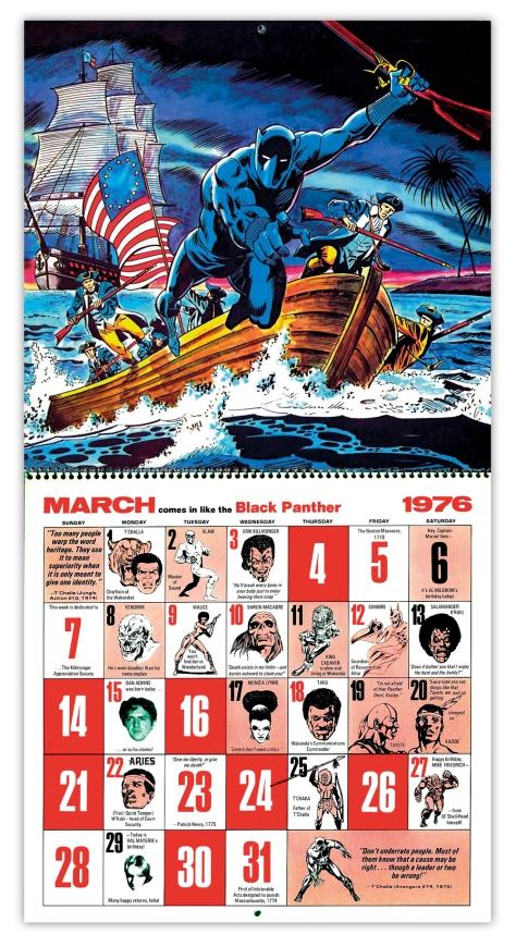 Marvel Bicentennial calendar 1976 March