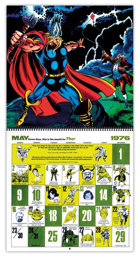Marvel Bicentennial calendar 1976 May