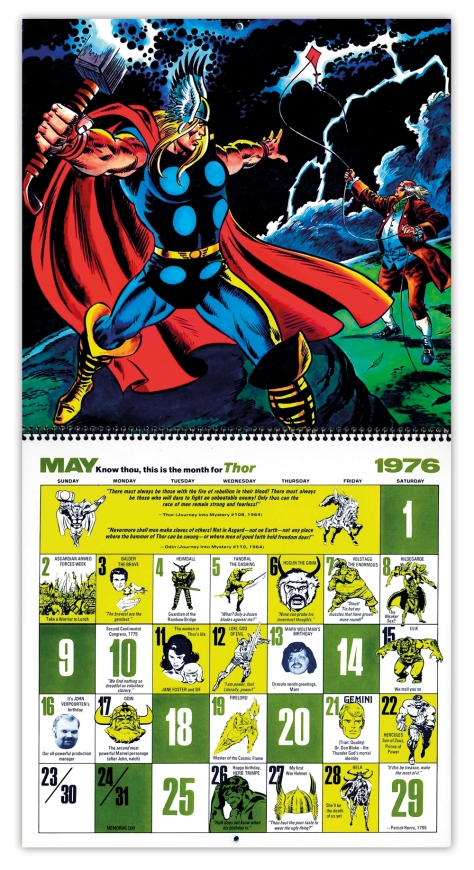 Marvel Bicentennial calendar 1976 May