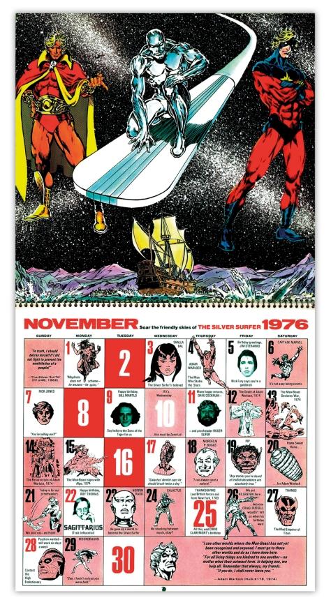 Marvel Bicentennial calendar 1976 November