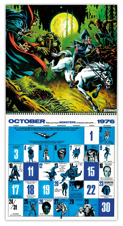 Marvel Bicentennial calendar 1976 October