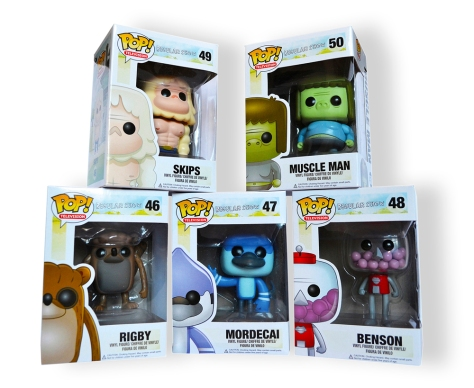 Regular Show POP! figures with boxes