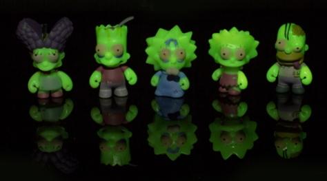 Simpsons Zombie Family glow in the dark