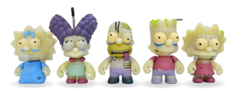 Simpsons Zombie Family line-up