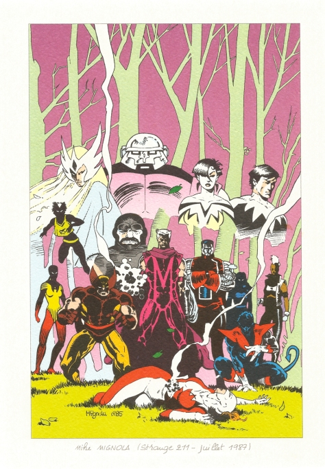 Strange 25th Anniversary portfolio: Alpha Flight and The X-Men