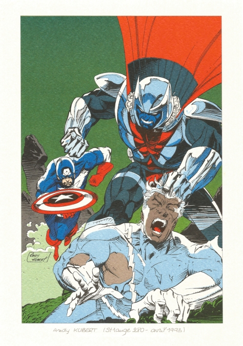 Strange 25th Anniversary portfolio: Captain America and Quicksilver