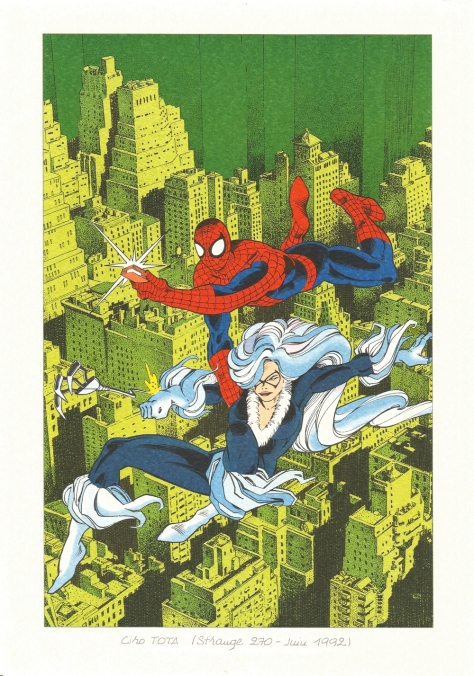 Strange 25th Anniversary portfolio: Spider-Man and Black Cat