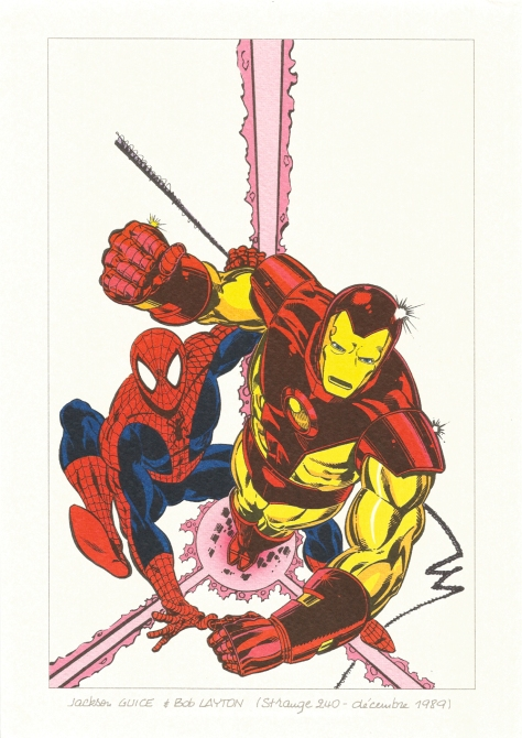 Strange 25th Anniversary portfolio: Spider-Man and Iron Man