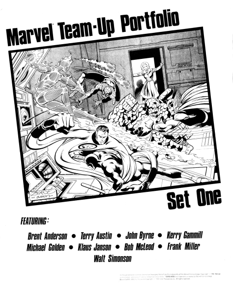 Marvel Team-Up Portfolio Set One, cover