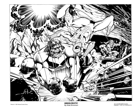 Marvel Team-Up Portfolio Set One: Green Death!