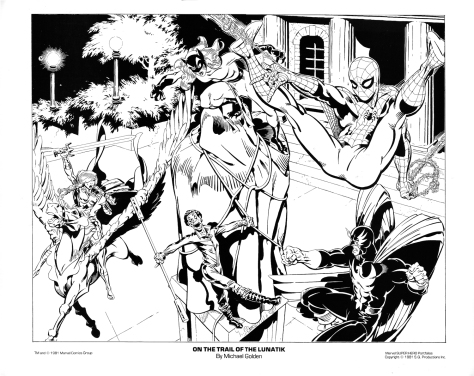 Marvel Team-Up Portfolio Set One: On the trail of the Lunatik