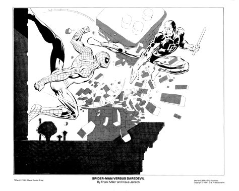 Marvel Team-Up Portfolio Set One: Spider-Man versus Daredevil
