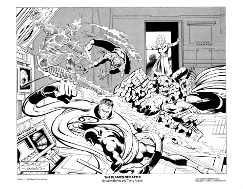 Marvel Team-Up Portfolio Set One: The Flames of Battle