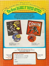Savage Sword of Conan, back cover ad issue 7