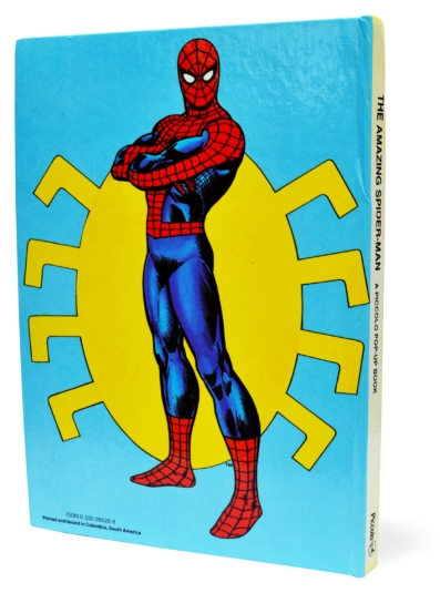 Spider-Man Piccolo pop-up book, back cover