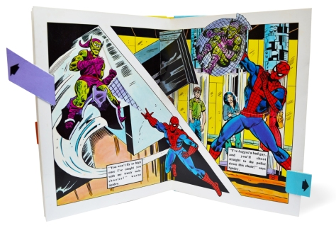 Spider-Man Piccolo pop-up book, pages 10-11
