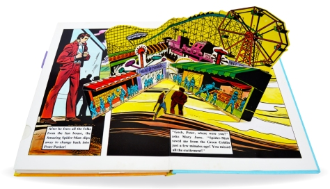 Spider-Man Piccolo pop-up book, pages 12-13
