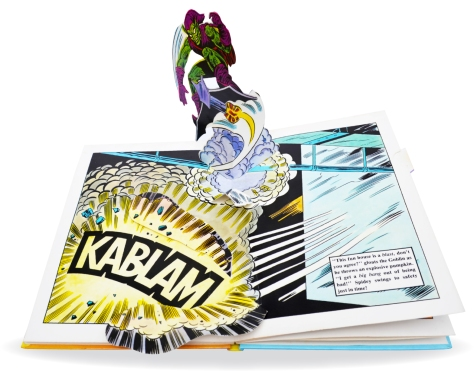 Spider-Man Piccolo pop-up book, pages 8-9
