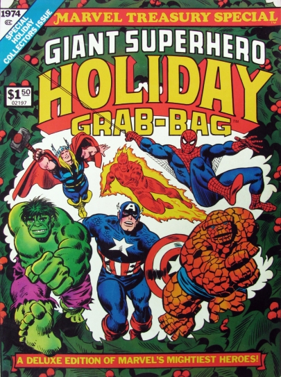 Giant Superhero Holiday Grab-Bag, front cover