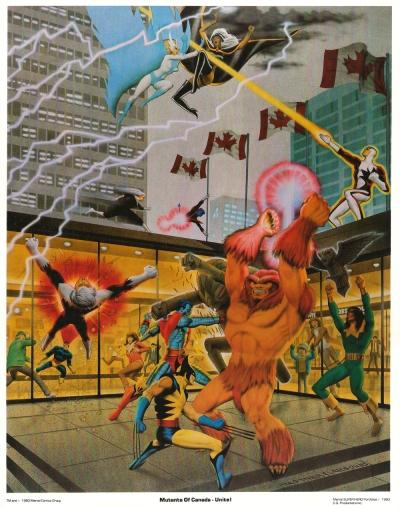 The Uncanny X-Men Portfolio, Set Two: plate three