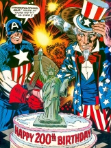 Captain America's Bicentennial Battles, back cover