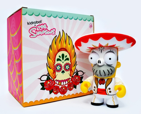 Day of the Dead Homer, back of the box