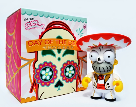 Day of the Dead Homer, with box