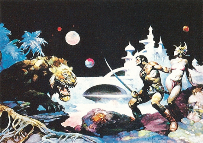 Frazetta Trading Cards Series One, numbers 31-45 (1991)