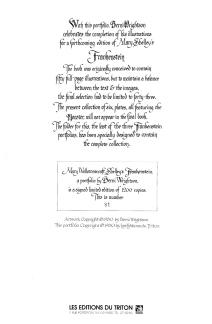 Bernie Wrightson's Frankenstein Portfolio, back cover