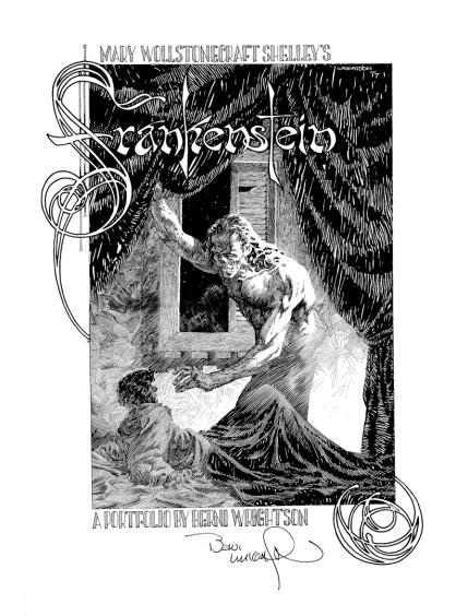 Bernie Wrightson's Frankenstein Portfolio, cover