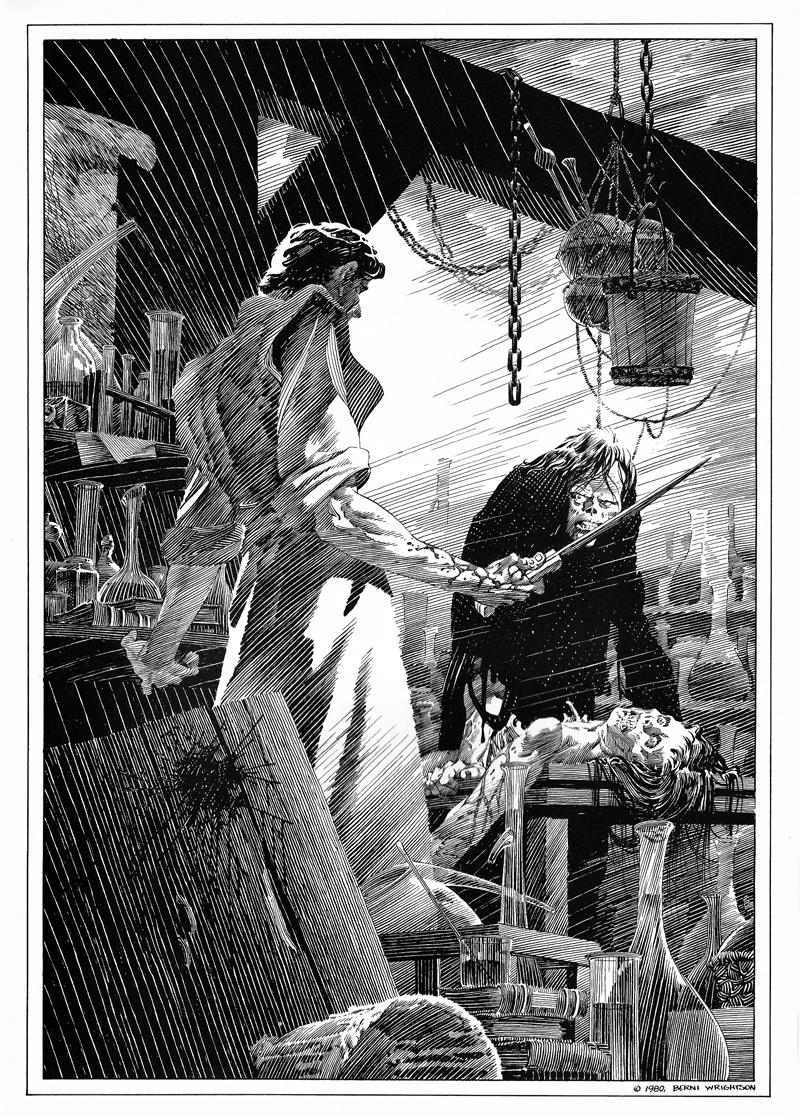 Bernie Wrightson S Frankenstein Portfolio 1980 Tain T