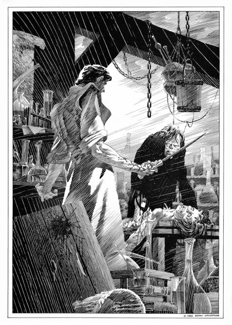 Bernie Wrightson's Frankenstein Portfolio, plate 1