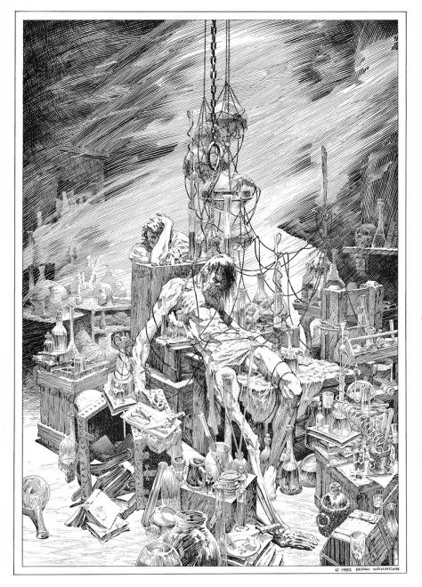 Bernie Wrightson's Frankenstein Portfolio, plate 2