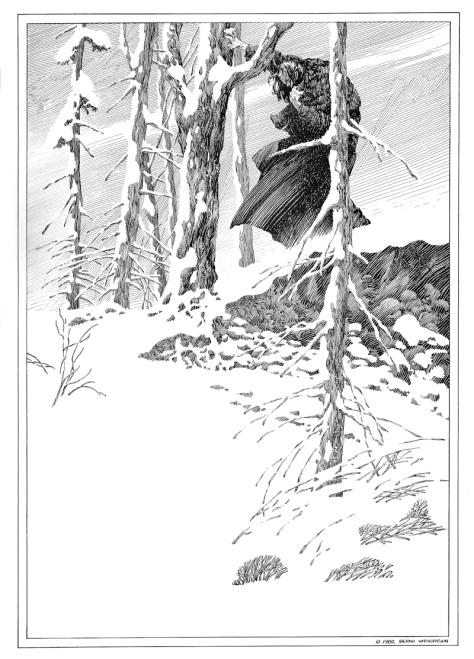 Bernie Wrightson's Frankenstein Portfolio, plate 6